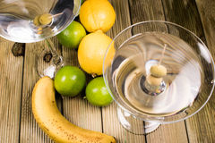 Martini coctail composition with fruits Stock Image
