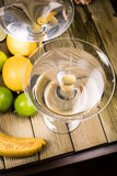 Martini coctail composition with fruits Stock Photography