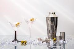 Martini coctailar Fotografering för Bildbyråer
