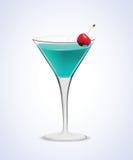 Martini coctailexponeringsglas Royaltyfri Foto