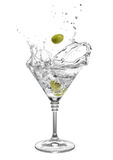 Martini com azeitonas e espirra Foto de Stock