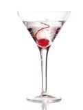 Martini com cereja Imagens de Stock