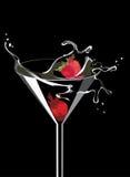 Martini com morango Imagem de Stock Royalty Free