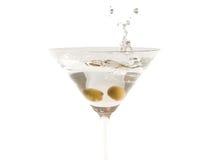 Martini, com um spash! imagem de stock