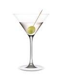 Martini con la aceituna. ilustración del vector