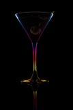 Martini con la aceituna Fotografía de archivo libre de regalías