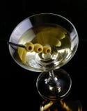 Martini con las aceitunas Imagen de archivo