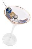 Martini con las aceitunas del planeta imagen de archivo libre de regalías