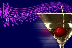 Martini con le note di musica! fotografie stock libere da diritti