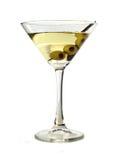 Martini con le olive Immagine Stock