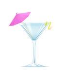 Martini con una rebanada de limón Fotos de archivo