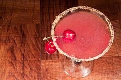 martini czereśniowy podśmietanie Zdjęcia Royalty Free