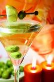 Martini dans la lumière de nuit Photos stock