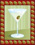 Martini dans la trame olive Photos libres de droits