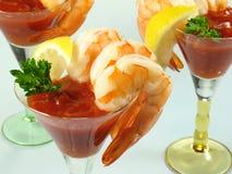 Martini de cocktail de crevette images libres de droits