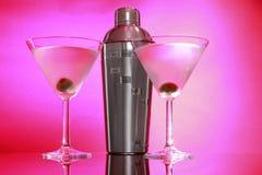 Martini dentellare ed agitatore d'acciaio fotografie stock