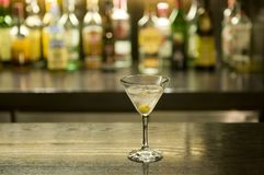 Martini drink cocktail in a bar Royalty Free Stock Image