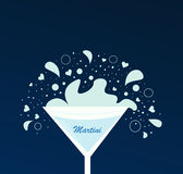 Martini drink in glass Royalty Free Stock Photos