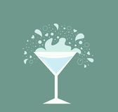 Martini drink in glass Royalty Free Stock Photography