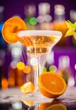 Martini drink served on bar counter Stock Photography