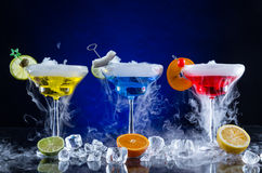 Martini drinks with smoked effect Royalty Free Stock Photography