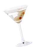 Martini Dry With Pimento Olives Royalty Free Stock Photos