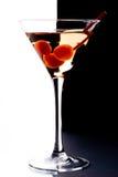 Martini in een glas stock afbeelding