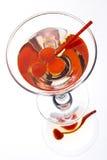 Martini in einem Glas Stockfoto