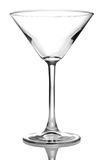 Martini empty glass Stock Images