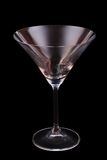 Martini. Empty martini glass isolated on black background Royalty Free Stock Photo