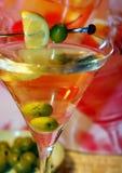 Martini en luz de la noche foto de archivo libre de regalías