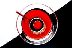 Martini en un vidrio imagenes de archivo