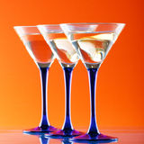 martini en verre Photographie stock