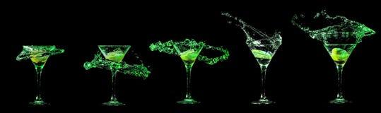 Martini exponeringsglassamling Royaltyfri Bild