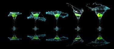 Martini exponeringsglassamling Arkivfoto