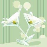 martini färgstänk Arkivfoto