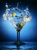 martini färgstänk Fotografering för Bildbyråer