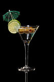 Martini, fresh Coctail isolated on black Stock Image