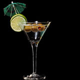 Martini, fresh Coctail isolated on black Stock Photography
