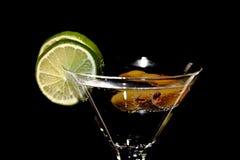 Martini, fresh Coctail isolated on black Royalty Free Stock Photo