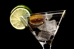Martini, fresh Coctail isolated on black Royalty Free Stock Image
