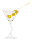 Martini Gin Drink. Alcoholic drink isolated on white background Stock Image