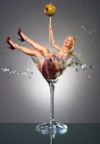 Martini girl Royalty Free Stock Photography