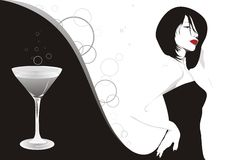 Martini girl Royalty Free Stock Images