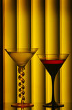 Martini-Gläser Stockbild