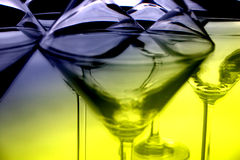 Martini-Gläser III stockbild