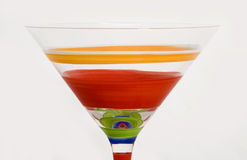 Martini-Glas Stockbild