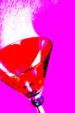 Martini-Glas Lizenzfreies Stockfoto