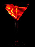 Martini-Glas mit Kirschen Lizenzfreie Stockfotos