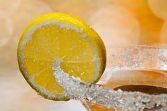 Martini-Glas mit Zitrone Lizenzfreies Stockbild
